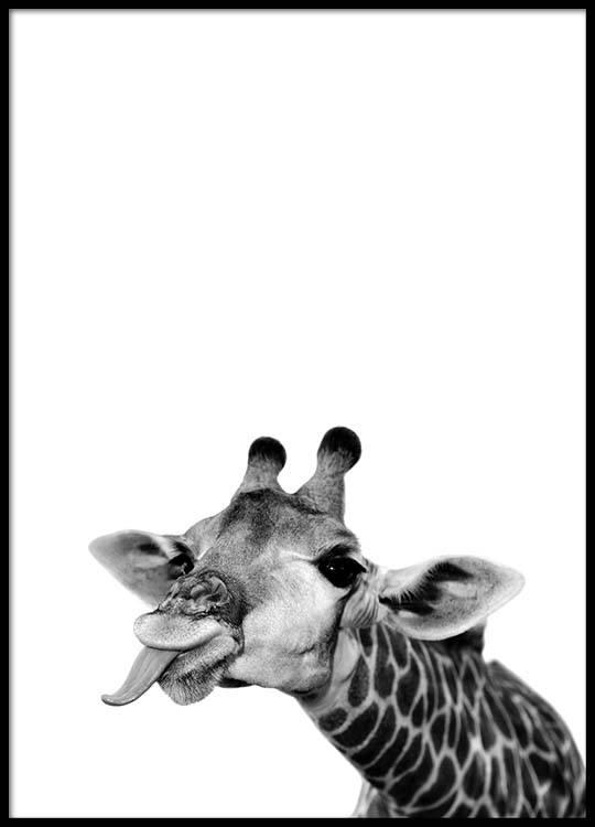 goofy giraffe poster. Black Bedroom Furniture Sets. Home Design Ideas