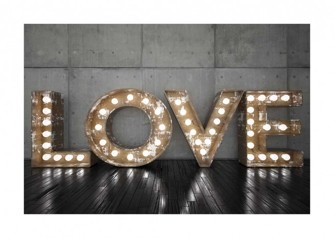 Love Sign Poster / Text posters at Desenio AB (2689)