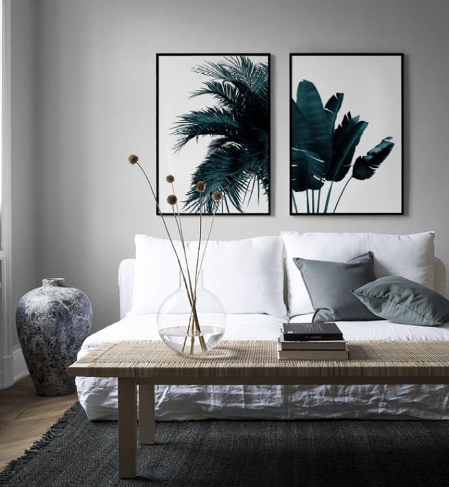 Green Palm Tree Poster