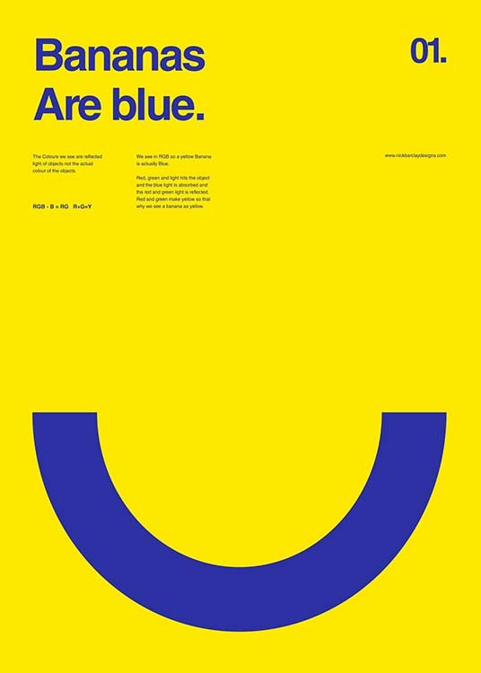 Bananas Are Blue Poster / Graphical at Desenio AB (2987)