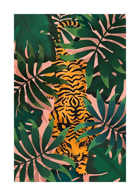 Tiger In Jungle Poster / Insects & animals at Desenio AB (3147)