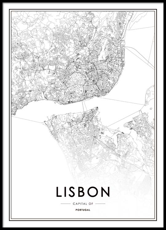 Lisbon Map Poster on posters of maps, posters of language, posters of movies, posters of organizations, posters of nature, posters of animals, posters of cityscapes, posters of culture, posters of travel, posters of destinations, posters of communities, posters of libraries, posters of companies, posters of technology, posters of media, posters of love, posters of women's suffrage, posters of oceans, posters of space, posters of science,
