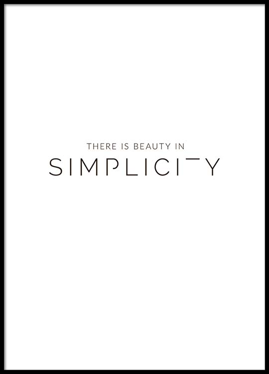 Beauty In Simplicity Poster