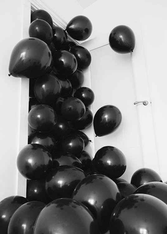 Black Balloons Poster