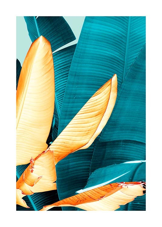 Neon Leaves Three Poster / Botanical at Desenio AB (3769)