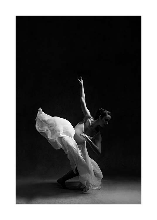 Ballerina Dancer No2 Poster / Black & white at Desenio AB (3806)
