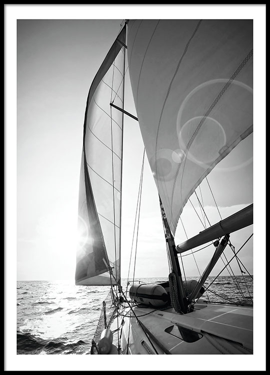 Poster With Photograph Of A Sailboat