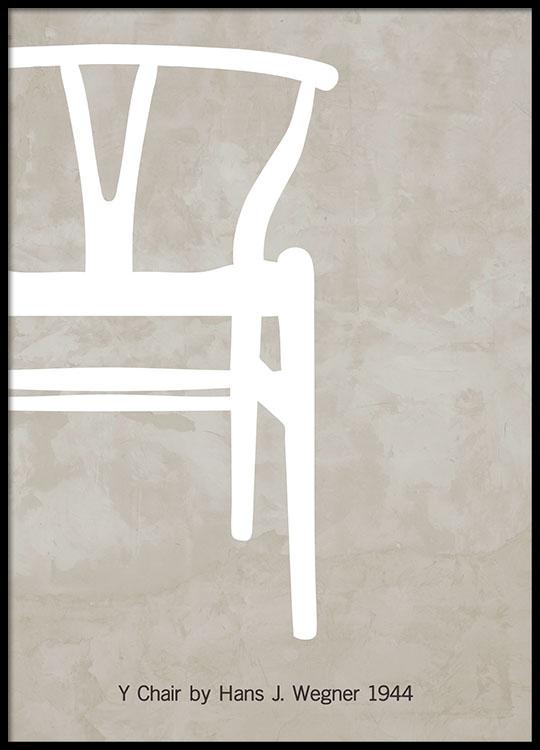 modern design poster with t chair. Black Bedroom Furniture Sets. Home Design Ideas
