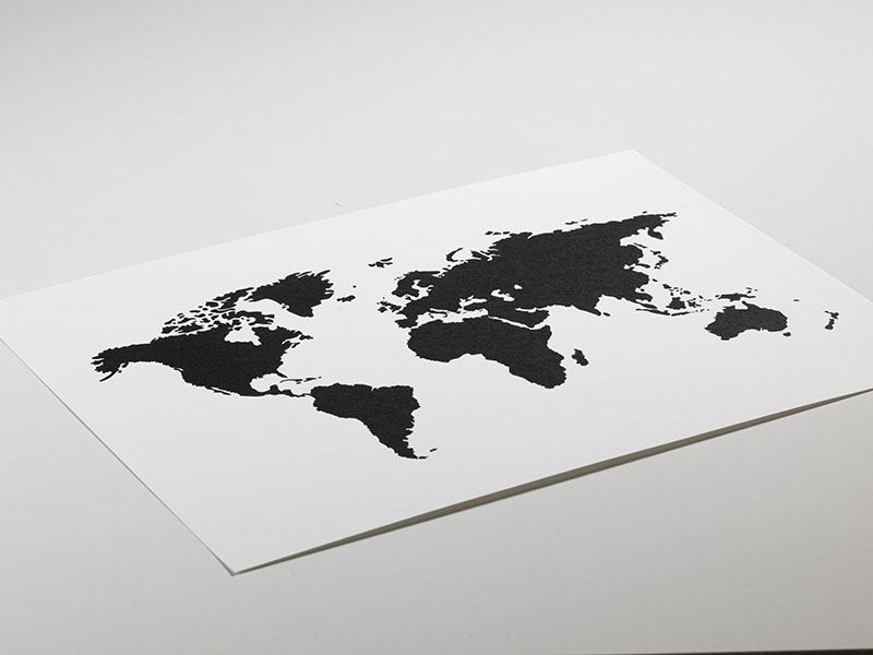 World map poster black and white posters with maps tavla poster med svartvit vrldskarta gumiabroncs Choice Image