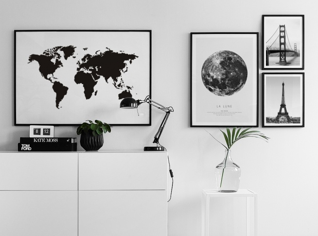 World map poster black and white posters with maps tavla gumiabroncs Images