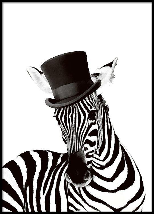 Poster Of Zebra Desenio Com