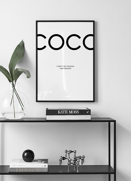 coco chanel poster posters with fashion citations posters online. Black Bedroom Furniture Sets. Home Design Ideas