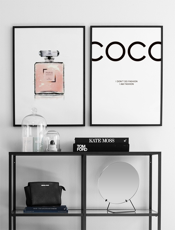 Poster With A Pink Perfume Bottle Posters From Chanel