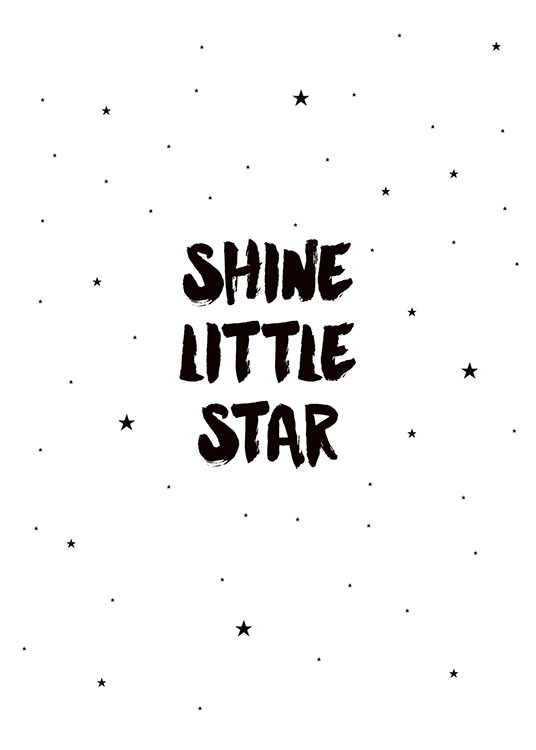 Shine Little Star, Posters / Kids posters at Desenio AB (7789)