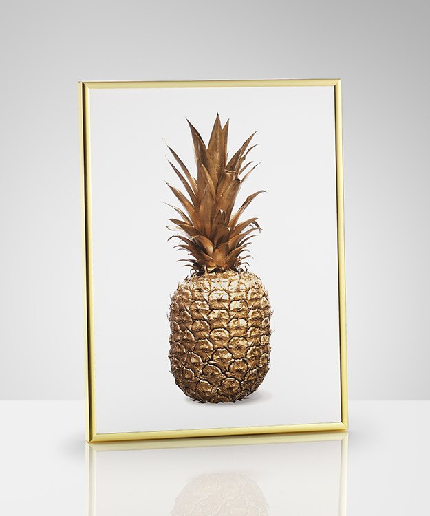 Poster With Gold Pineapple