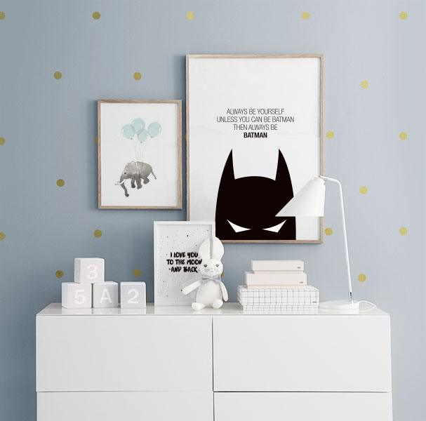 "Kidâ€â""¢s poster with Batman, posters for kids"