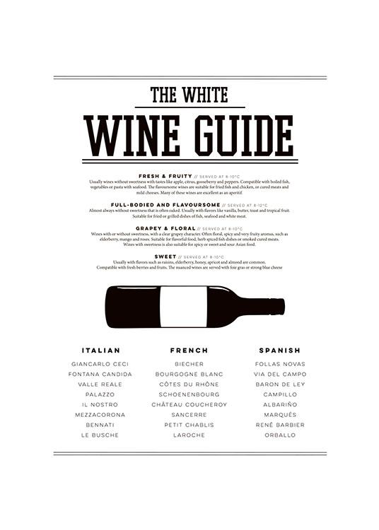 Stylish Print For Kitchen Wine Guide Poster Kitchen