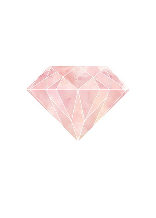 Pink Diamond, Poster / Graphical at Desenio AB (7811)