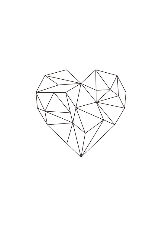 Geometric Heart, Poster / Graphical at Desenio AB (7816)
