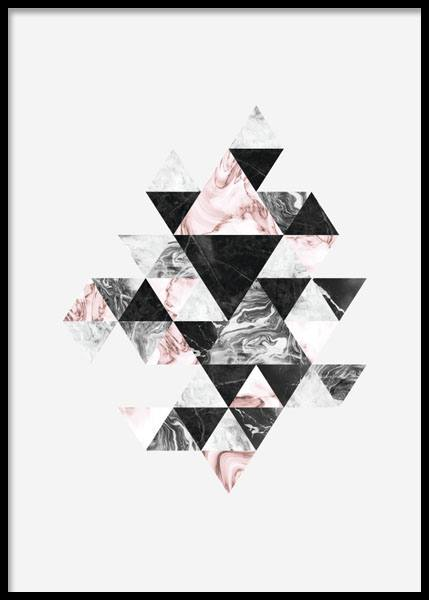 Poster with triangles | Graphic prints online | Stylish poster