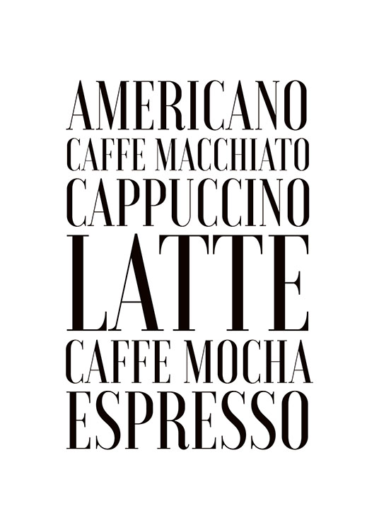 Coffee, Poster / Text posters at Desenio AB (7897)