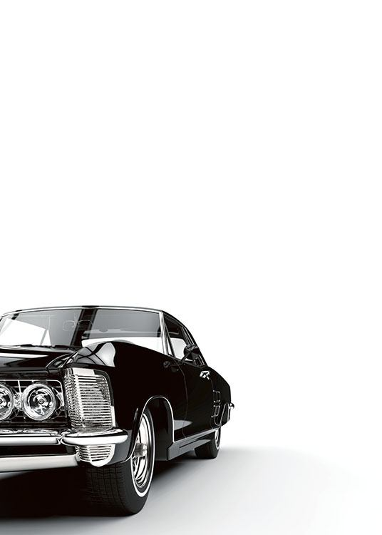 Black Car, Poster / Black & white at Desenio AB (7905)