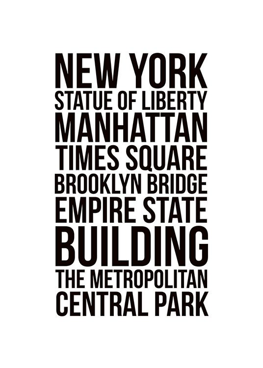 New york city poster in the group posters prints maps cities at