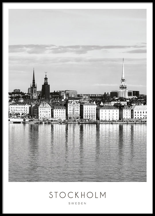 Stockholm City Poster 50x70cm In The Group Posters Prints Sizes