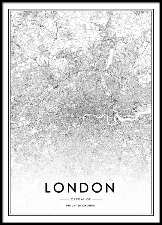 Poster with london map art print desenio - Laminas y posters madrid ...