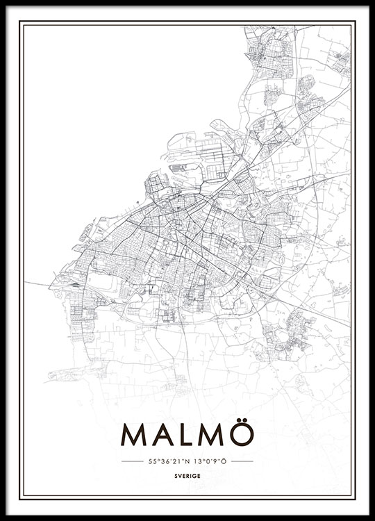 Poster with Malmö map | Prints online | Prints of cities on posters of maps, posters of language, posters of movies, posters of organizations, posters of nature, posters of animals, posters of cityscapes, posters of culture, posters of travel, posters of destinations, posters of communities, posters of libraries, posters of companies, posters of technology, posters of media, posters of love, posters of women's suffrage, posters of oceans, posters of space, posters of science,