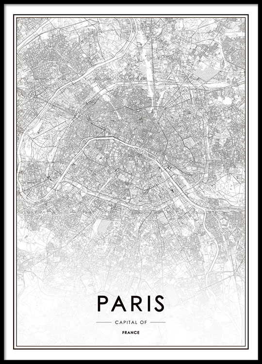 image about Printable Maps of Paris titled Paris, Poster