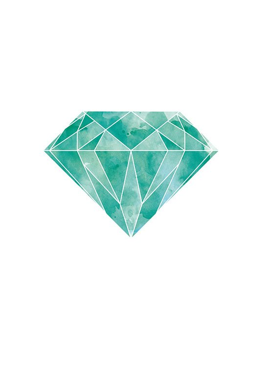 Graphic Poster Of Diamond Posters Emerald