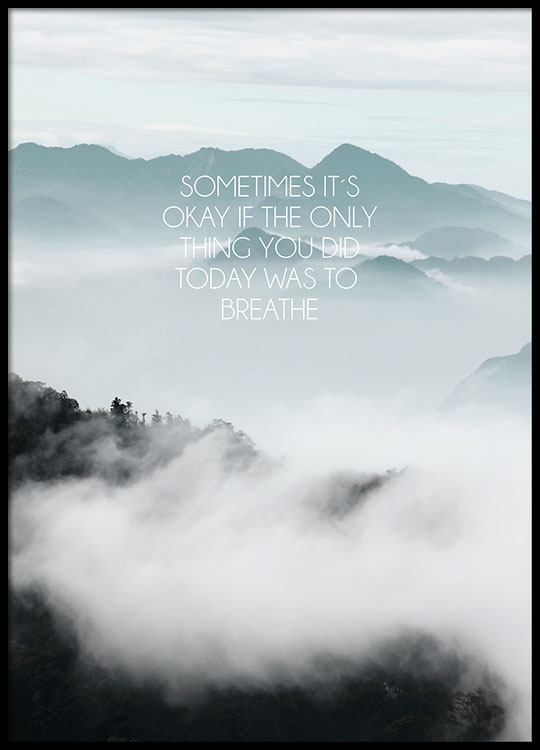 Typography Poster With Photo Art Mindfulness Poster