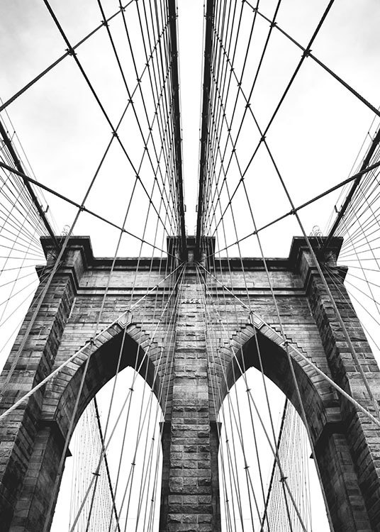 Poster With Photo Art Brooklyn Bridge Posters With