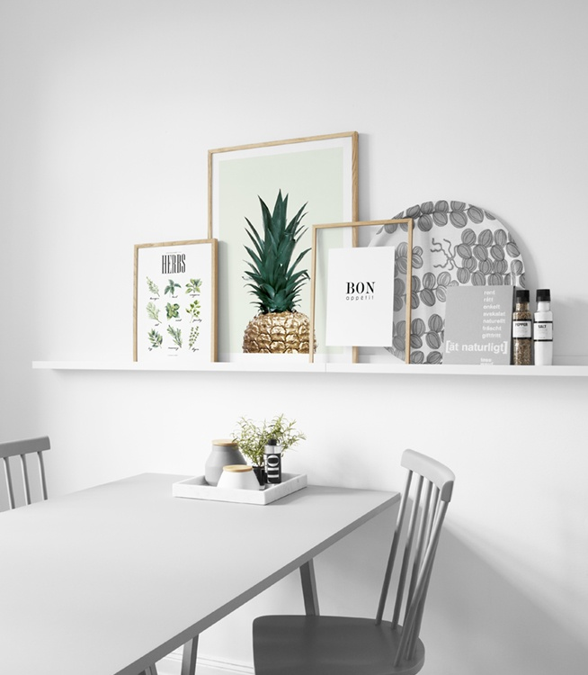 Poster With Kitchen Art, Herbs