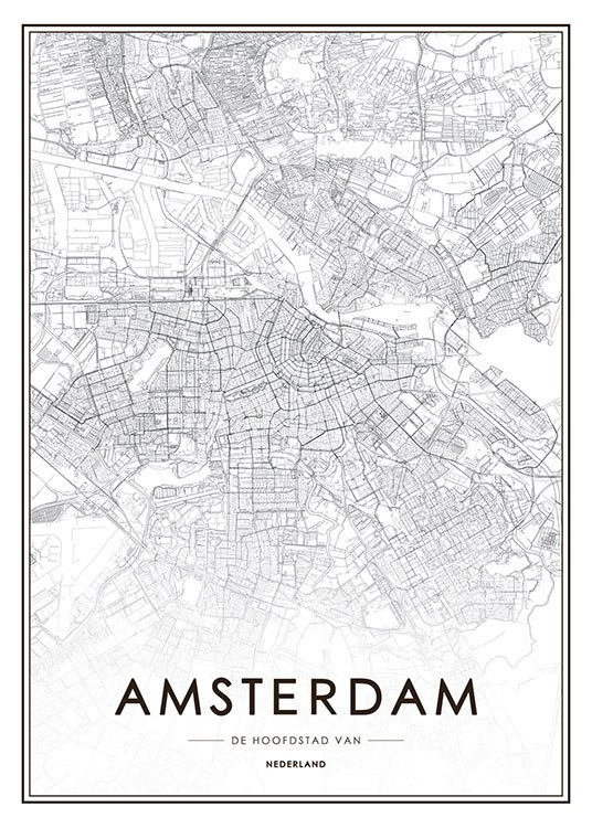 Amsterdam Map, Poster / Maps & cities at Desenio AB (8271)