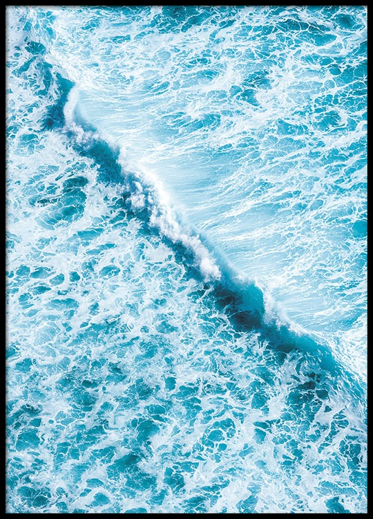 poster with a photo of an ocean photo art nature desenio