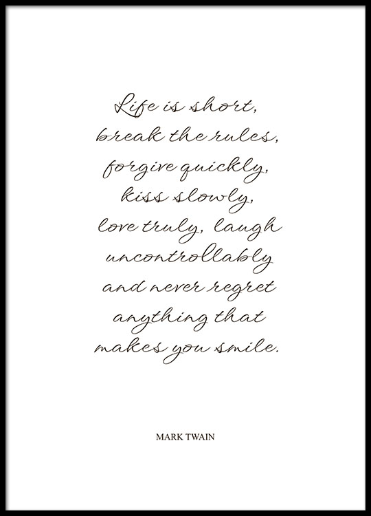 citater af mark twain Posters with quotes by Mark Twain | Prints | Desenio citater af mark twain