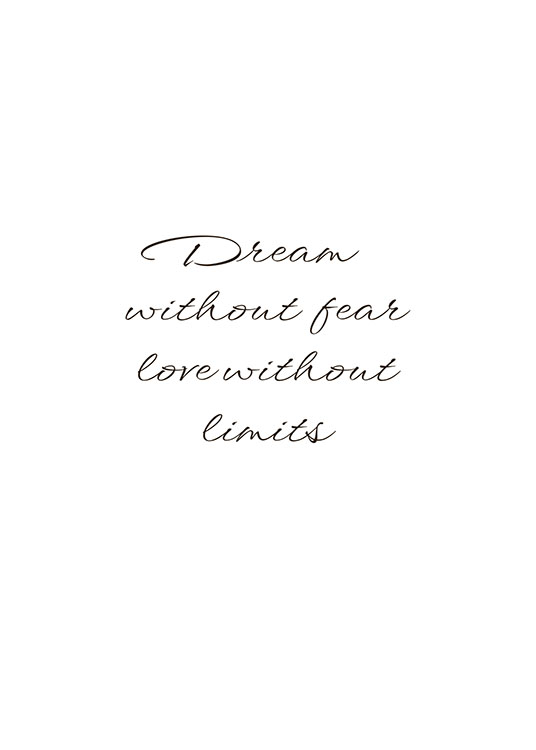 Dream Without Fear, Poster / Text posters at Desenio AB (8342)