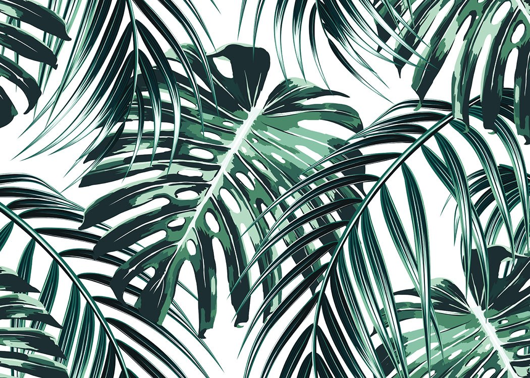Tropical Leaves, Poster / Art prints at Desenio AB (8385)
