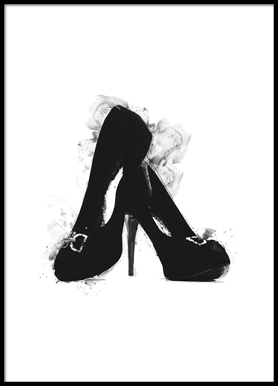 black heels poster. Black Bedroom Furniture Sets. Home Design Ideas