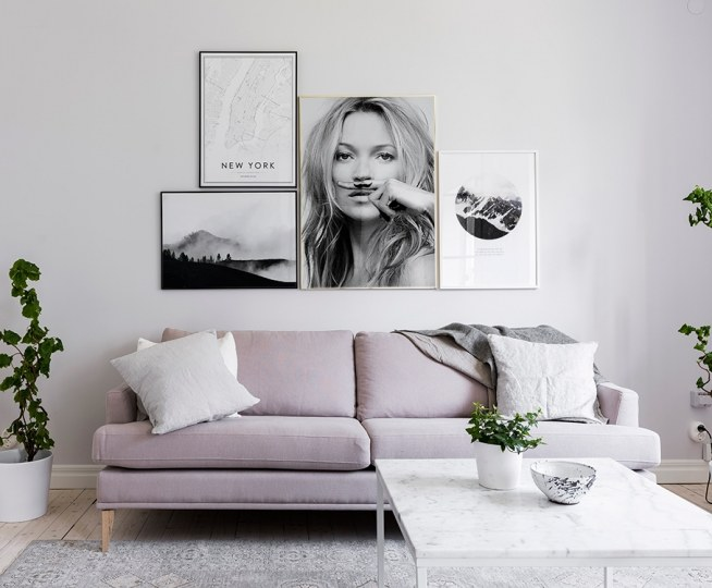 Kate moss poster black and white photo life is a joke - Alquimia deco ...