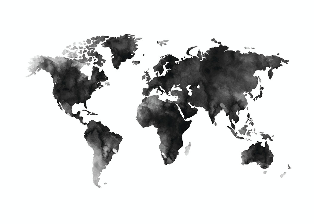 World Map Watercolor, poster