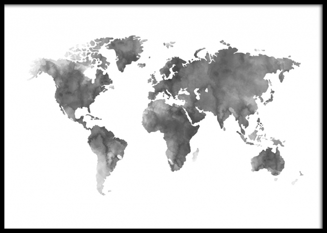 Black and grey world map yeniscale black and grey world map world map grey gumiabroncs Choice Image
