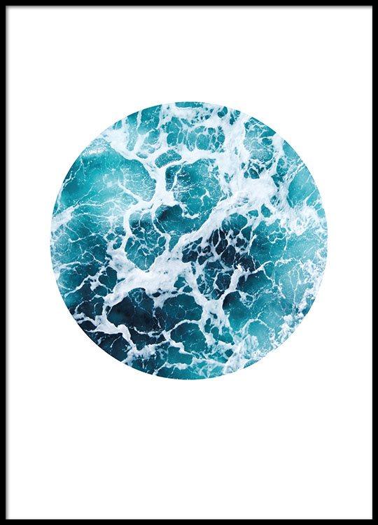 Sea Foam Circle Poster