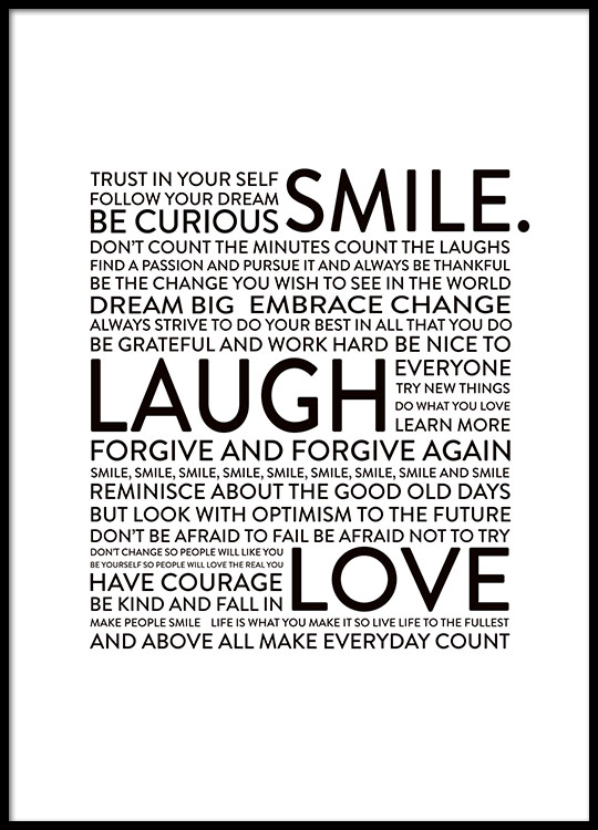 Smile Laugh Love, Posters
