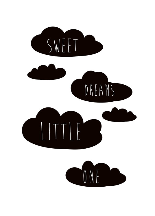Sweet Dreams Little One Poster / Kids posters at Desenio AB (8871)
