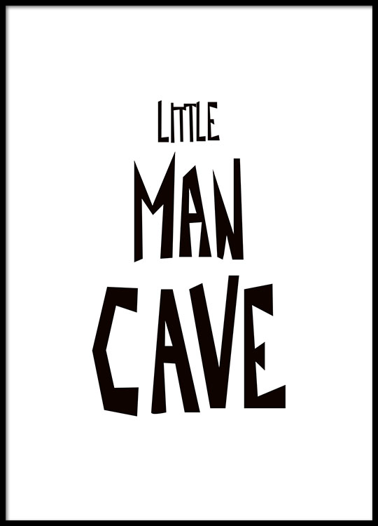 little man cave poster. Black Bedroom Furniture Sets. Home Design Ideas