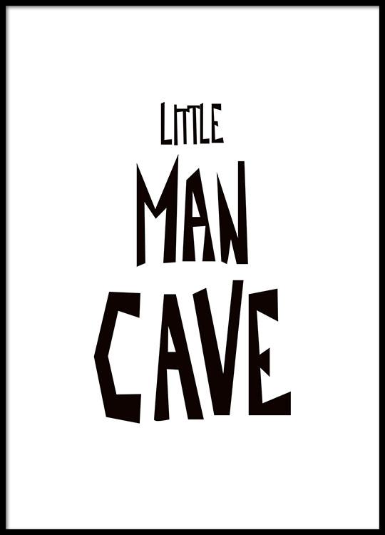 Little Man Cave Poster