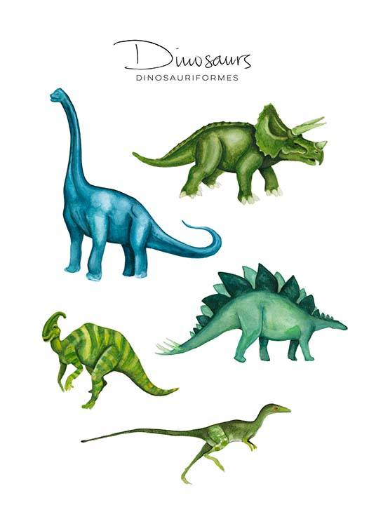 Dinosaurs Poster / Kids posters at Desenio AB (8990)